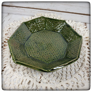 Cable Stitch Dish (medium octagonal)