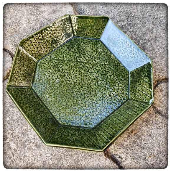 Cable Stitch Dish (large octagonal)