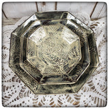 Crocheted Doily Dish (Sharon style; large octagonal)