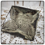 Crocheted Doily Dish (Sharon style; small square)
