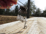 Cat stitch marker set in gray