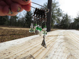 Deathly Hallows stitch marker set in green and silver
