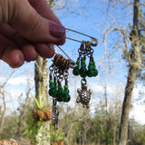 Turtle stitch marker set in green