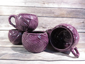 Neatly Wrapped yarn ball cup