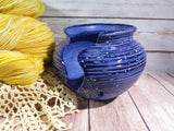 Yarn bowl (thrown style; two colors)