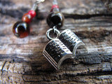 Book stitch marker set in red