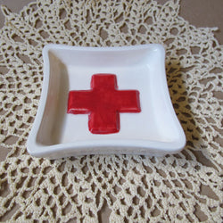 Red Cross soap dish