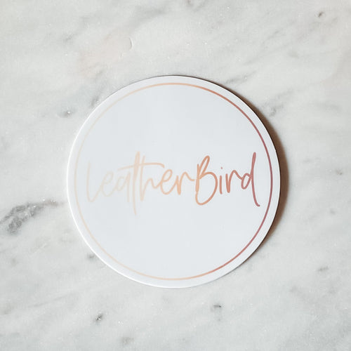 'LeatherBird' Sticker