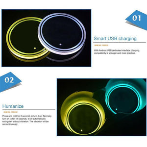 Lights Up Car Cup Holder (2PCS)