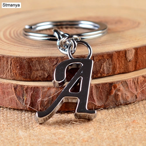 A-Z Key Chain Silver Jewelry
