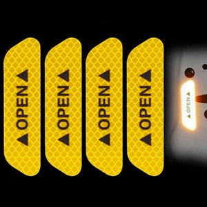 Car OPEN Door Reflective Tape Warning 4pc/set