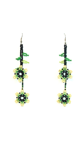 Handbeaded Vine of Life Earrings - 5 days