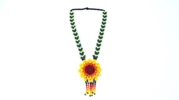 Handbeaded Sunflower Shine Necklace - 14 days