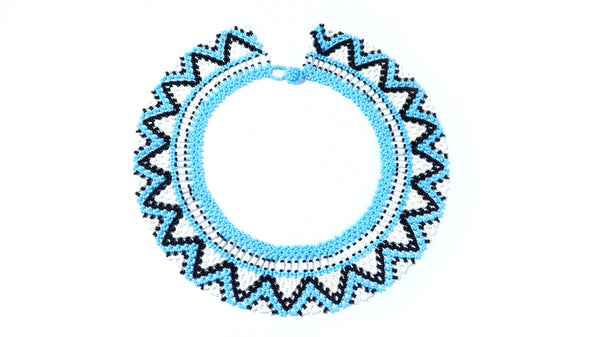 Handbeaded Ocean Deep Necklace - 11 days