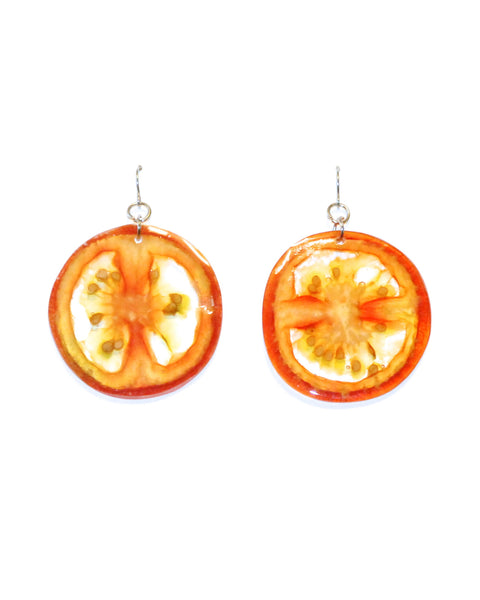 Tomatoe Illustrate Clear Earrings