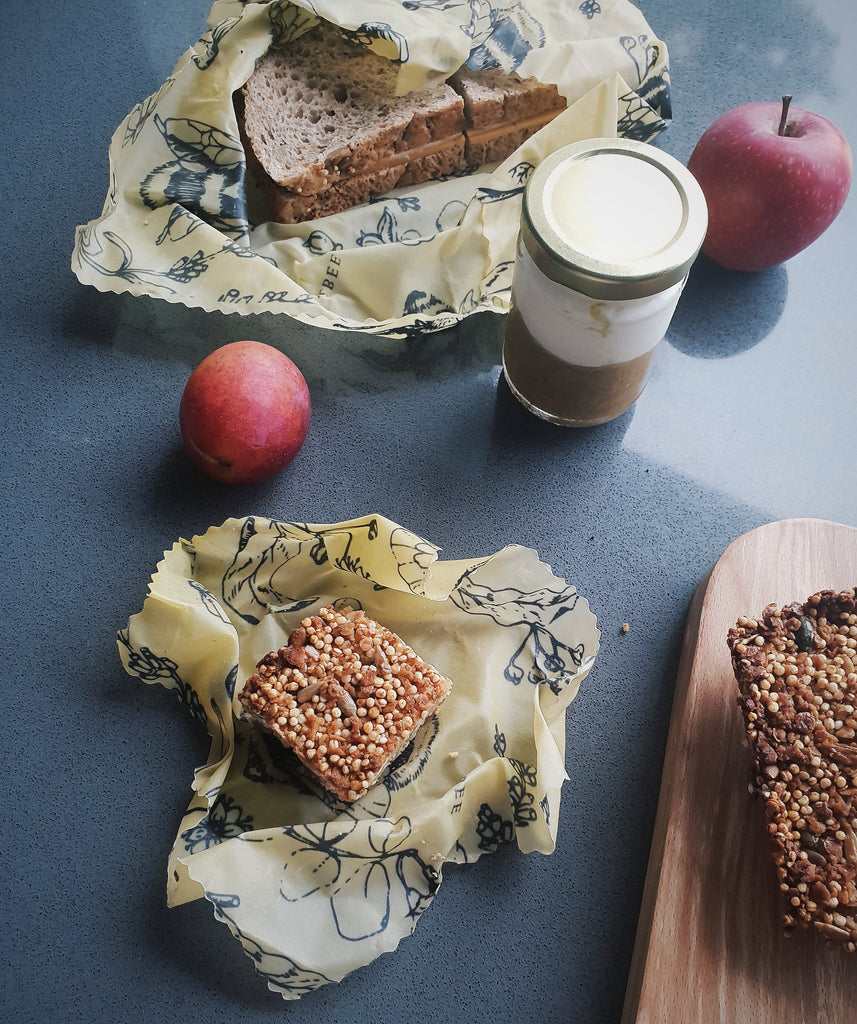 Using Beeswax Food Wraps For Your Lunch + 2 Easy Snack Suggestions!