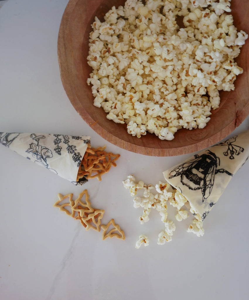 Beeswax wrap snack | 3 delicious popcorn flavours