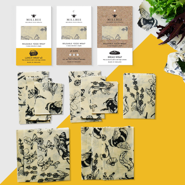 Bundle II:  13 Beeswax Wraps (2 Variety, 1 Bread, 2 Lunch)