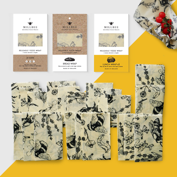 Bundle III:  14 Beeswax Wraps (2 Variety, 2 Bread, 2 Lunch)