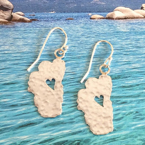"Lake Tahoe Silver Earrings, 1"" Tahoes - Specialty Beads"