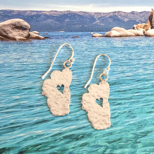 "Lake Tahoe Silver Earrings, 5/8"" Tahoes - Specialty Beads"