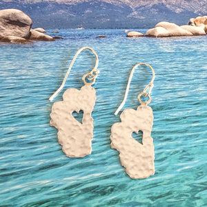 "Lake Tahoe Silver Earrings, 7/8"" Tahoes"