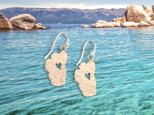 "Lake Tahoe Silver Earrings, 7/8"" Tahoes - Specialty Beads"