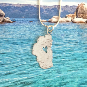 "Lake Tahoe Silver Necklace, 5/8"" Tahoe"