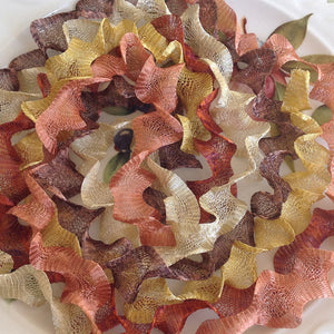 Titanium Mesh Ribbon, Autumn Splendor Assortment, Five 1 Meter pieces at a Discounted Price