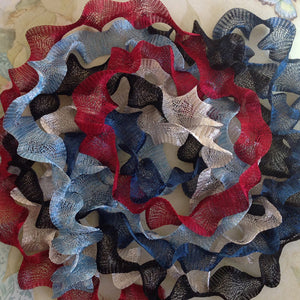 Titanium Mesh Ribbon, Patriotic Glory Assortment, Five 1 Meter pieces at a Discounted Price