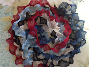 Titanium Mesh Ribbon, Patriotic Glory Assortment, Five 1 Meter pieces at a Discounted Price - Specialty Beads