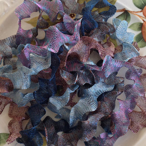 Titanium Mesh Ribbon, Sky Blue Surprise Assortment, Five 1 Meter pieces at a Discounted Price