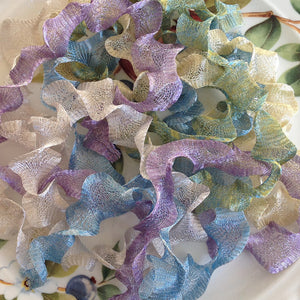 Titanium Mesh Ribbon, Summer Days Assortment, Five 1 Meter pieces at a Discounted Price
