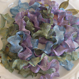 Titanium Mesh Ribbon, Wild Flower Beauty Assortment, Five 1 Meter pieces at a Discounted Price