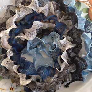 Titanium Mesh Ribbon, Winter Paperwhites Assortment, Five 1 Meter pieces at a Discounted Price