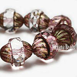 Crystaline Turbine Czech Beads - Specialty Beads