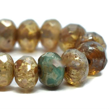 Champagne Czech Beads, 5x3mm