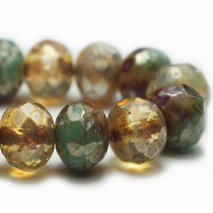 Champagne Czech Beads, 6x4mm - Specialty Beads