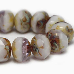 Pale Lavender Czech Beads, 6x4mm - Specialty Beads