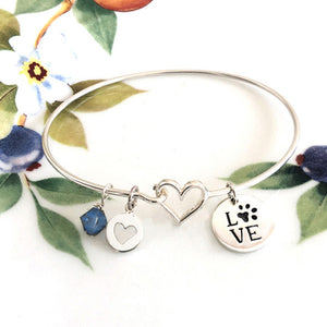 Love with Paw Print Bracelet
