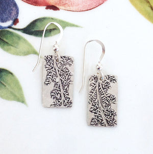 Sterling Silver Leafy Branch Earrings - Specialty Beads