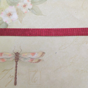 Titanium Mesh Ribbon, Cherry Rose, 5 Meter Spools - Specialty Beads