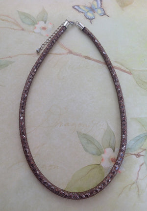 Chocolate Brilliant Crystal Mesh Necklace - Specialty Beads