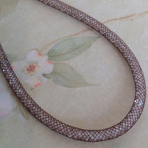 Chocolate Silk Crystal Mesh Necklace - Specialty Beads