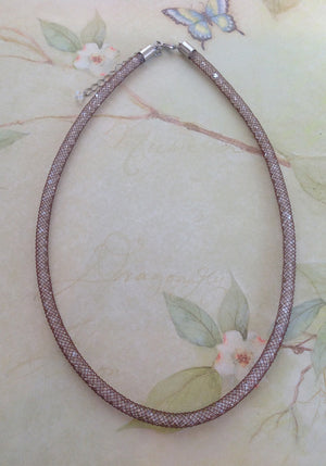 Chocolate Silk Crystal Mesh Necklace