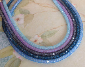 Aqua Shimmer Crystal Mesh Necklace - Specialty Beads