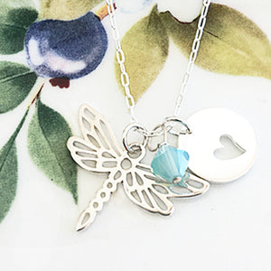Dragonfly Heart Necklace