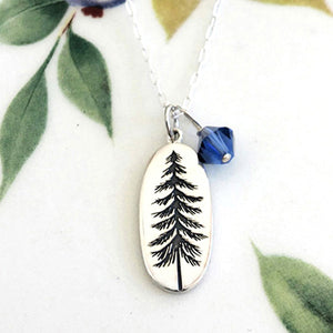 Etched Tree Necklace
