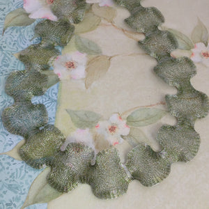 Titanium Mesh Ribbon, Frosted Light Green, 5 Meter Spools - Specialty Beads