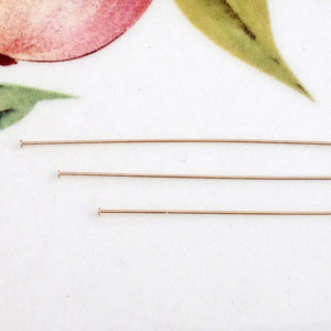 "Gold Filled 3"" Head Pins, package of 20"